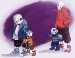 Papyrus look, little version of you by paurachan
