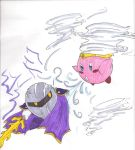 Kirby vs. Meta-Knight by Zarrino822