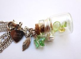 Bottle Beauty Necklace - New Leaf by WaterGleam