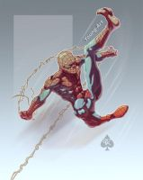 Back w. Spider-man Spade92 Col by ParisAlleyne