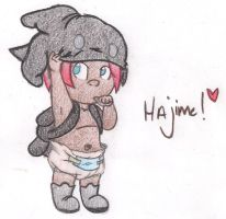 Hajime's new outfit!! .:Request:. by applehead302