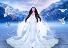 the lovely angel by annemaria48