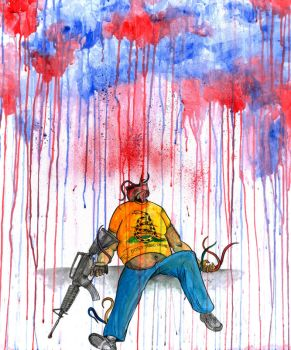 Guns don't kill people... by uncouthbarbarian