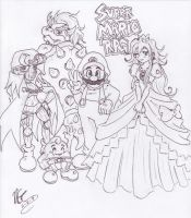 Super Mario RPG - 5 Heroes by kamon-san