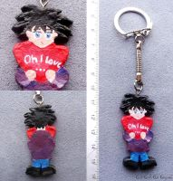 """The Only One"" keyring by AllCatsAreGreyART"