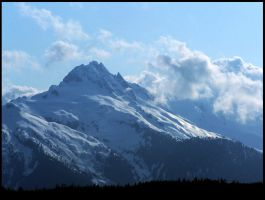 Snow Capped Mountain 1. by Bleezer