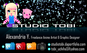 My Graphic Design Business Card by tobi2moodring