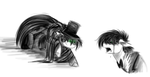Jekyll/Hyde Rorshach sketches by Lilac-the-fox99
