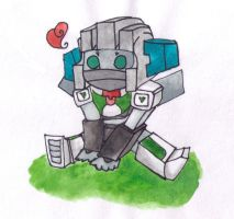 Chibi Wheeljack by TheStickyNoteDoodler
