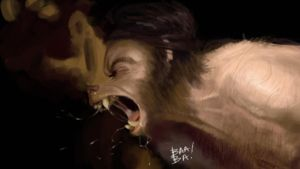 Werewolf Study by 2BeanSoup