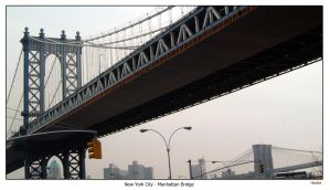 NYC Manhattan Bridge by hh