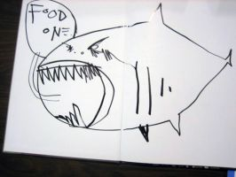 Food One Shark by JimMahfood-FoodOne
