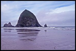 Approaching Haystack Rock by TeaPhotography