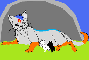 Warriors: Silverflame and Kits by demonstardust