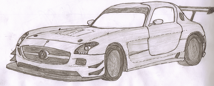 Mercedes Benz SLS GT3 by superhobo666