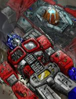 Commission: Optimus Prime by kerfufflecolor