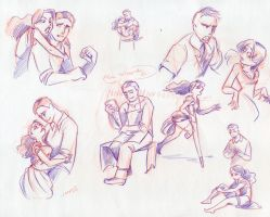 Eleanor and Kent sketches 01 by paigehwarren
