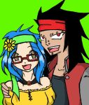 Gajeel and Levy: modern clothes by ravenoftherealm
