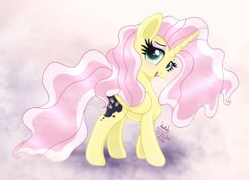 MLP FIM - Fluttershy I Am The Night by Joakaha