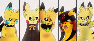 Pikachus by Thiefing