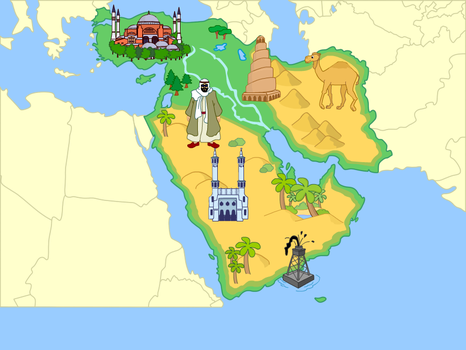 Middle East (Mute Physical Map) by Fernikart57