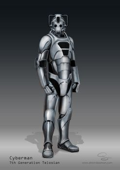 Doctor Who Cyberman Concept by SimonPrime