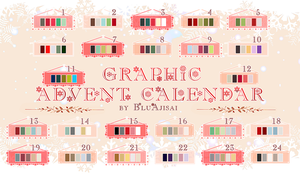 Graphic Advent Calendar [CLOSED] by BluAjisai