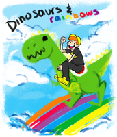 LET'S BE DINOSAURS by guezadilla