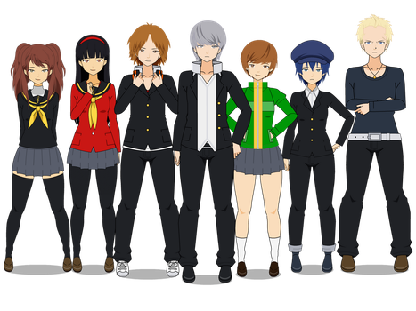 Persona 4 Crew (school pack) by TheLastGallant