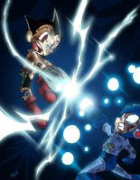 Astro Boy Vs Mega Man by BJSinc