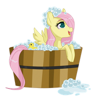 Flutter Filly - bath time by Sugarcup91