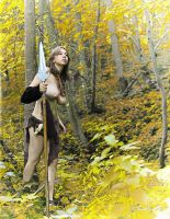 Polina with spear by ohlopkov
