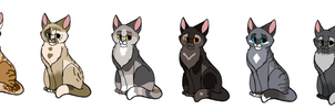 Cats that are adopts 2 (ONE SLOT LEFT!) by MlSTY