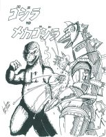 Godzilla vs Mechagodzilla '74 by Jason-FH-Art