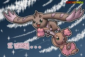 Request: Lopmon and Buneary by Cachomon