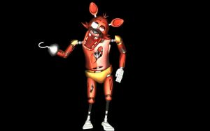 MMD FIVE NIGHTS AT FREDDY'S Foxy the pirate DL by XHaloMMDArtX