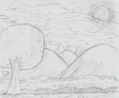 trees and mountains by gatox35