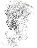 Gryphon Face by zirofax