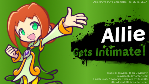 Allie (new character in Puyo Puyo Chronicles) by Mayugaph