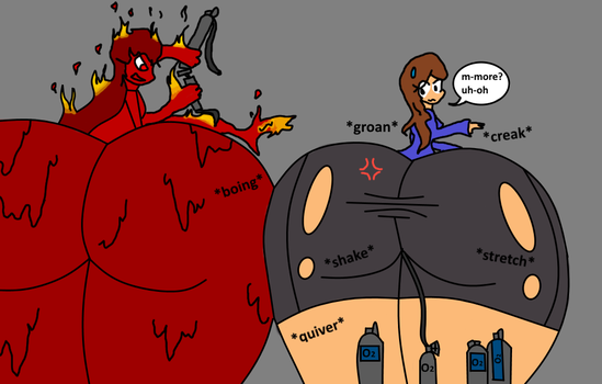 Flame Anna And Maia Butt Inflation By Puffylover1 by Shadow-Bubbles