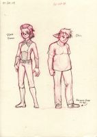 Human Characters Rosa and Chris by neilak20