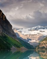 Canoes on Lake Louise by LarryRaisch