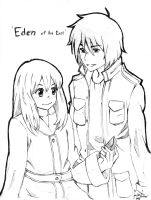 eden of the east sketch by Joberu