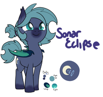 Pony OC-Sonar Eclipse by WhatCritter