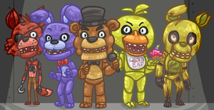 Five Faces, Five Nights by Xerophilous