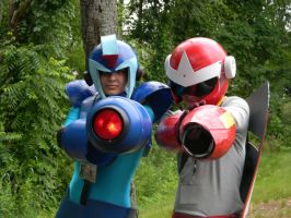 X and Protoman Cosplay by TheNin10dork