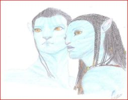 Jake and Neytiri by IsaZeta
