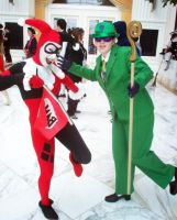 Harley and The Riddler by ArrhythmiaNyx