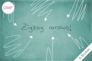 GIMP Zigzag Arrows by byjanam