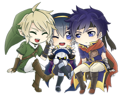 :SSBB:Cute:Swordsmen: by KaiSuki